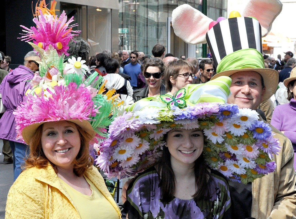 NYC Easter Parade, moder Easter bonnets
