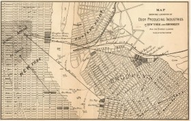Odor Producing Industries Map, stench map, NYC smell map, historic maps NYC