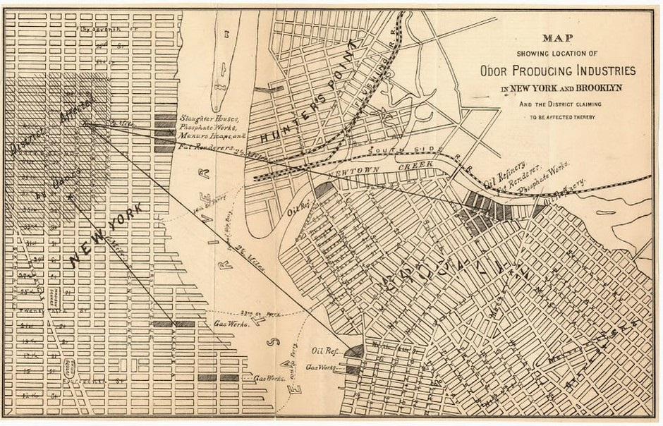 19th Century Stench Map Explains Why Brooklyn Became The