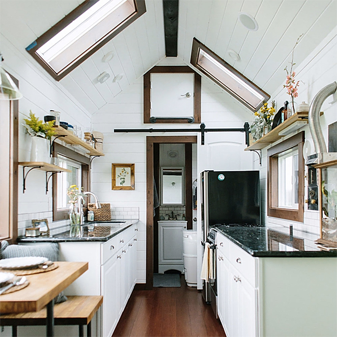 128-Square-Foot Tiny Heirloom Home Offers Rustic Elegance