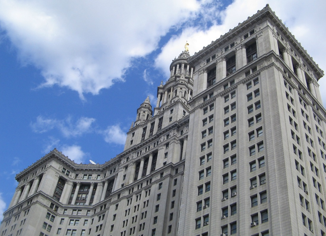 Manhattan Municipal Building, McKim Mead and White, early NYC skyscrapers
