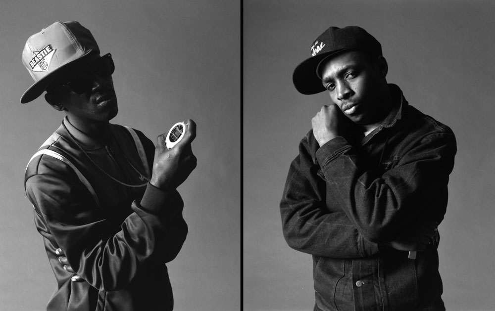 Public Enemy's Flava Flav and Chuck D NYC 1987