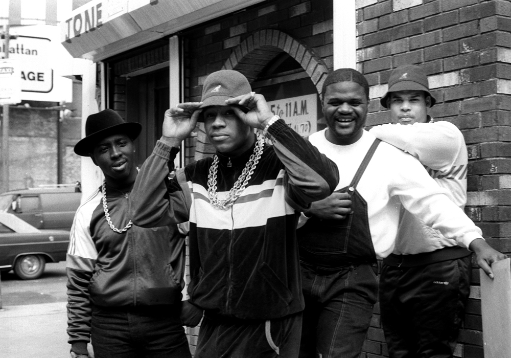 LL Cool J with Cut Creator, E-Love, and B-Rock. 1986. Photographer: Janette Beckman
