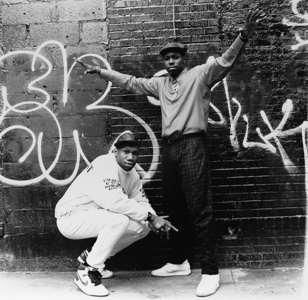 Boogie Down Productions: KRS-One and Scott La Rock. 1987. Photographer: Janette Beckman