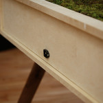 Love Hulten, self-sufficient garden, wooden desk, Senescent Desk, Swedish design