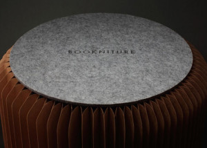 Mike Mak, honeycombe cardboard, pop-up furniture, Bookniture, Molo,