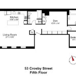 53 Crosby Street, flexible layout with possibility of adding windows, landmarked co-op, pied a terre