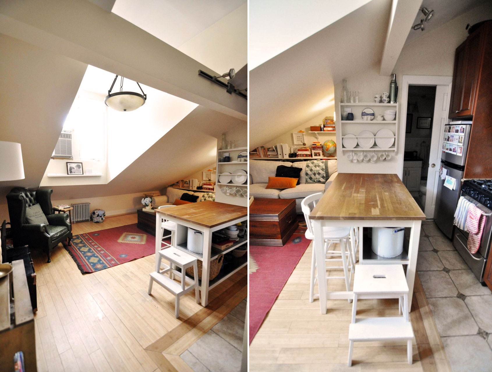 meatpacking district attic apartment, nyc attic apartments