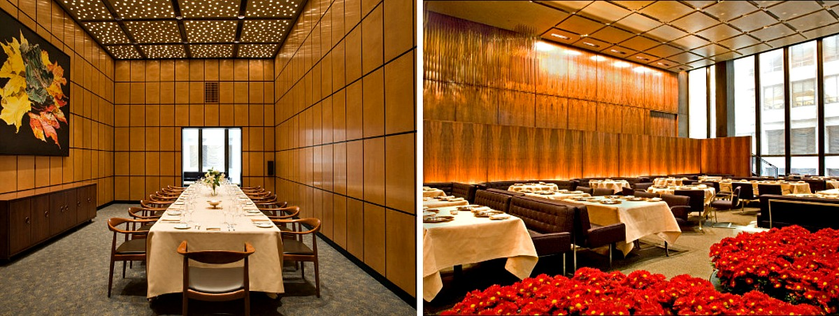 Four Seasons restaurant, Philip Johnson, Seagram Building