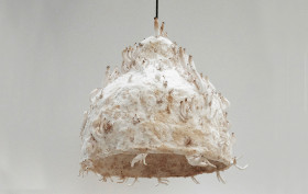 Jonas Edvard, mushroom and plants light, MYX, plants waste, Danish design, compostable light, organic lamp,