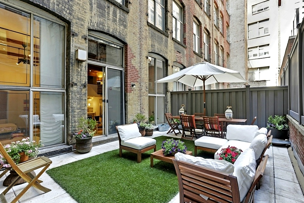205 East 22nd Street, Gramercy Park Habitat, lofted mezzanine, large outdoor patio
