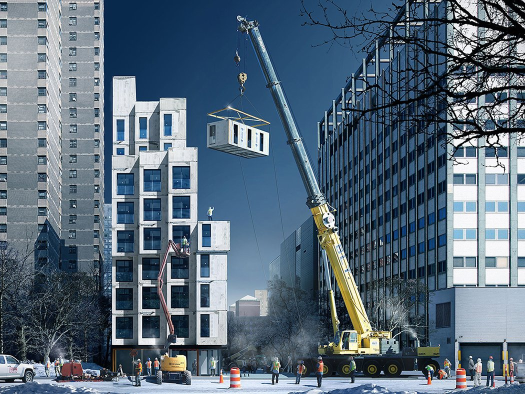 NYCHPD, Monadnock, My Micro NY, Micro-Apartments, Earth Day, nArchitects, modular construction