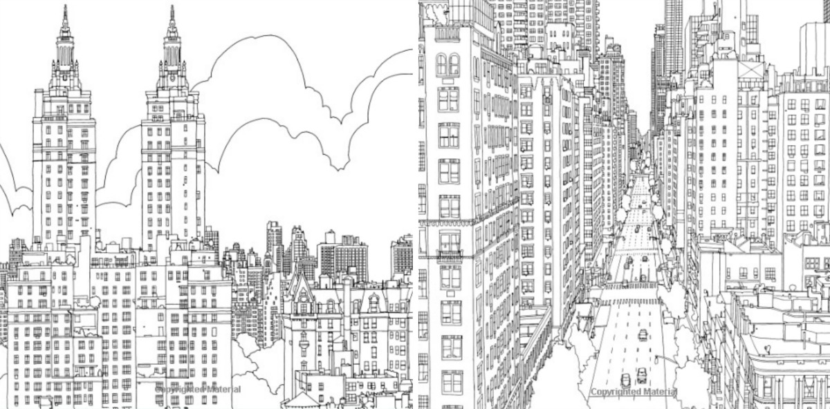 Fantastic Cities Steve McDonald Adult Coloring Books