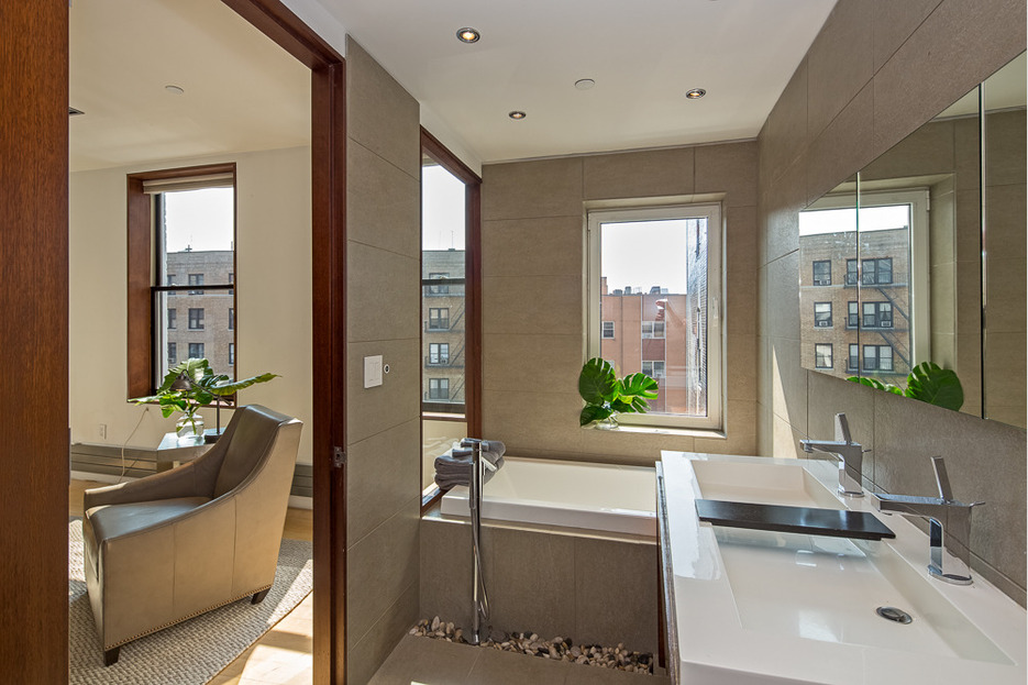Exposed Brick Abounds In This Full Floor Soho Loft Renting For - Contemporary soho loft with exposed brick and wood beams