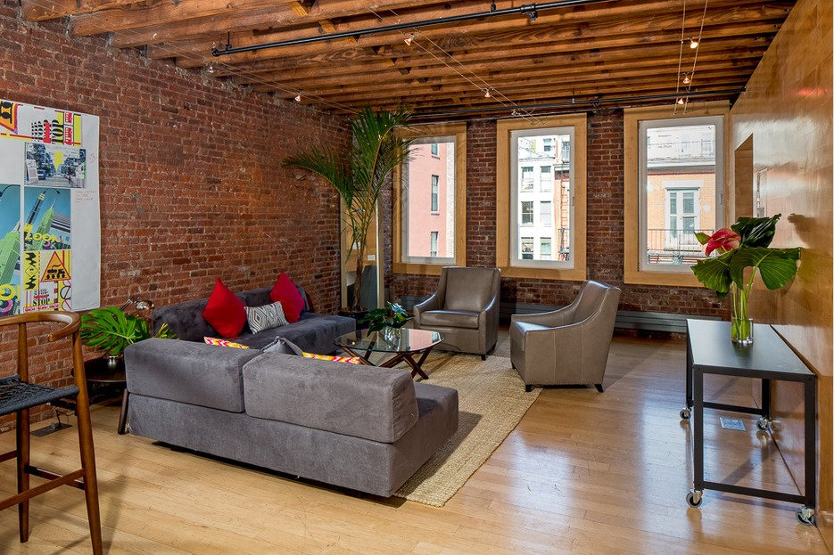 exposed brick abounds in this full floor soho loft renting for 10k