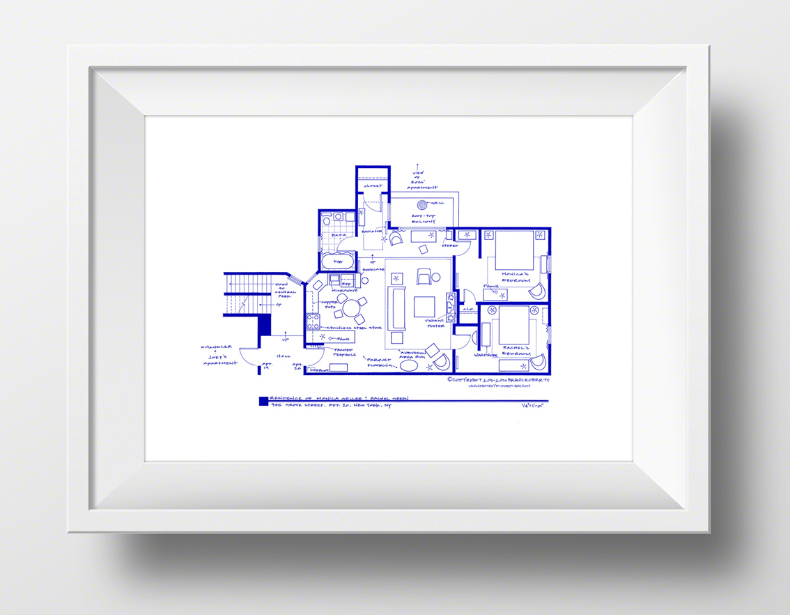 Fantasy Floorplans Bring to Life Your Favorite TV Show Homes From – Floor Plans Of Tv Homes