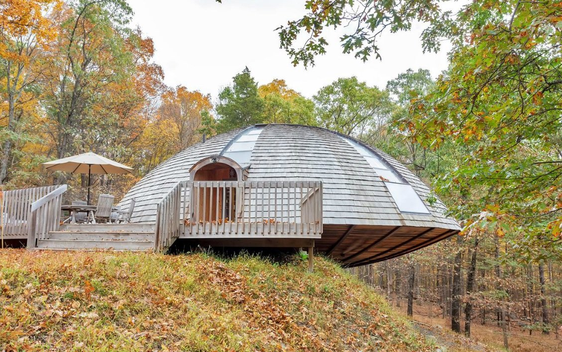 for under 1m you can buy a dome home in new paltz that rotates 16 canaan road geodesic dome home new paltz real estate domespace