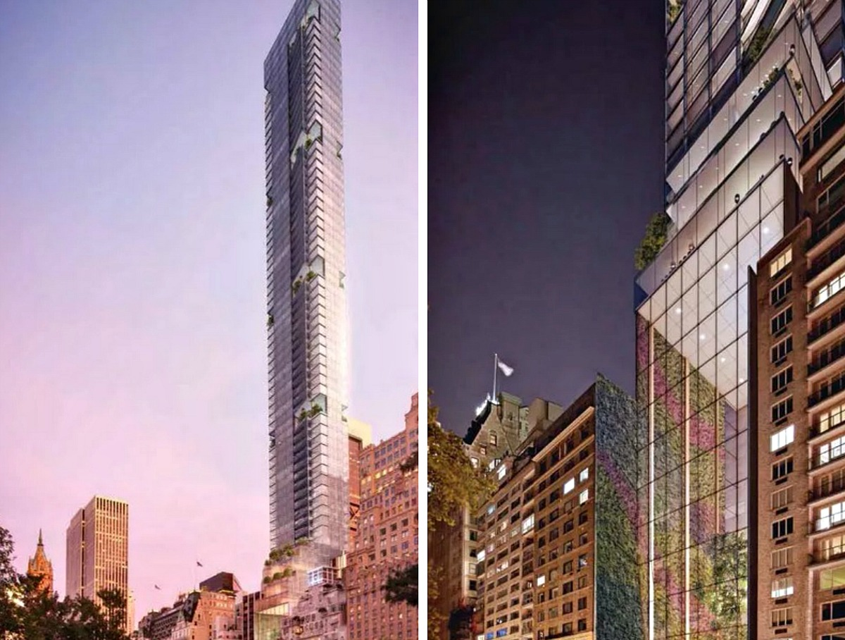 Helmsley Park Lane Hotel, 36 Central Park South, 1 Park Lane, NYC supertalls, Central Park South towers, billionaires' row