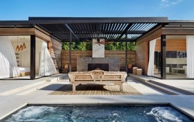 Hamptons pool house, ICRAVE, Amagansett