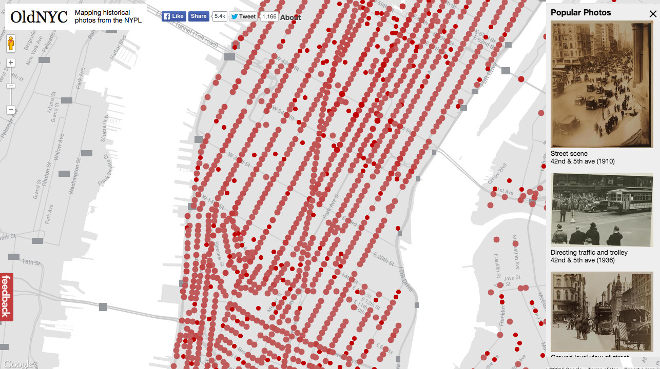 New York Public Library Releases Interactive Map Of Its - Nyc map interactive