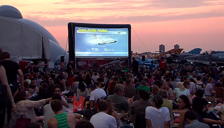 summer movies on the Intrepid nyc