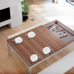 saluc, Amarith, pool table, two tables in one, Fusionpool table, sleek table