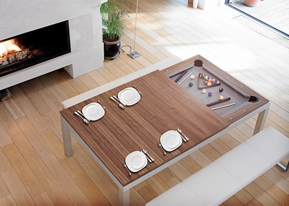 Amarith Fuses A Dining And A Pool Table In A Classy Way Sqft - Sleek pool table