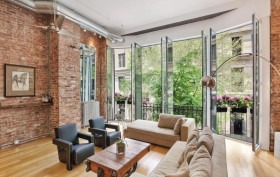 54 East 11th Street, Union Sq., Greenwich Village, French doors and Juliet balconies