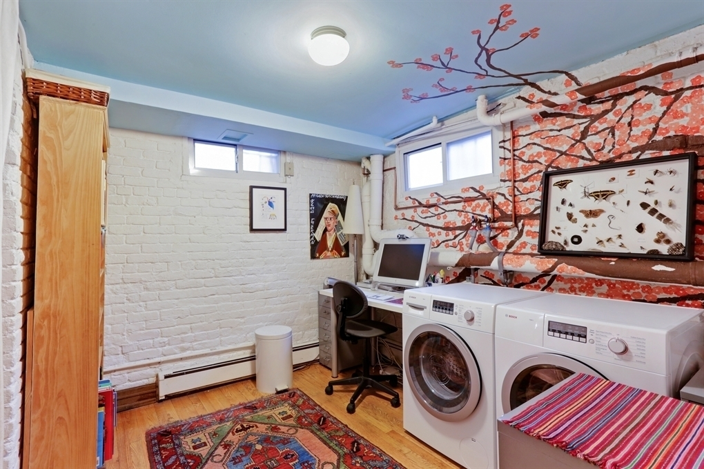 110 Clinton Avenue, laundry, garden apartment