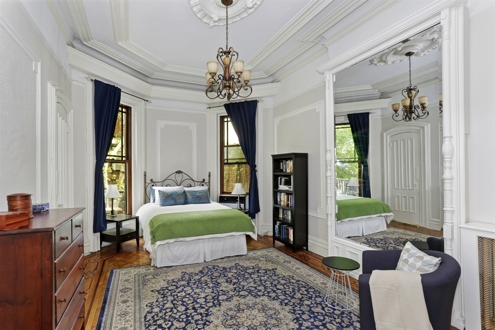 55 7th Avenue, limestone 1880s Gothic revival townhouse, private terrace