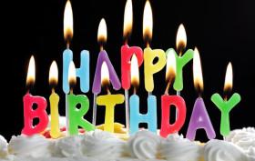 happy birthday, birthday cake, birthday candles