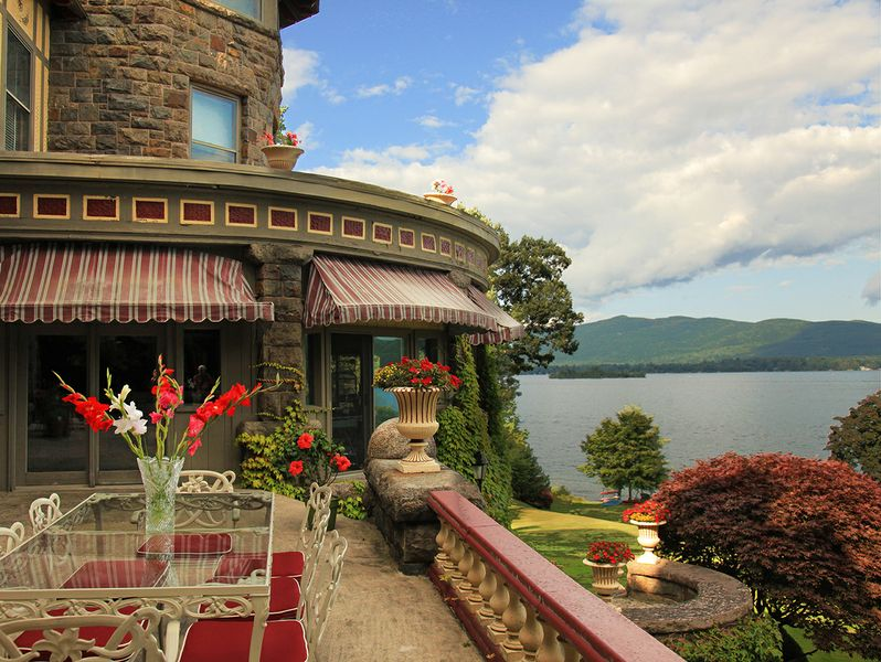 13m Tudor Revival Mansion On Lake George Has Historic
