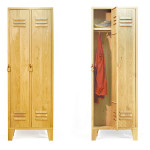 Stephan Siepermann, classic redesign, steel locker, wooden locker, Locky, Oak Wood