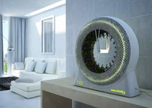 DesignLibero, Futuristic design, The Green Wheel, Inspired by NASA, Grow Your Own Food, grow food indoors, LED light, coco fiber vase,