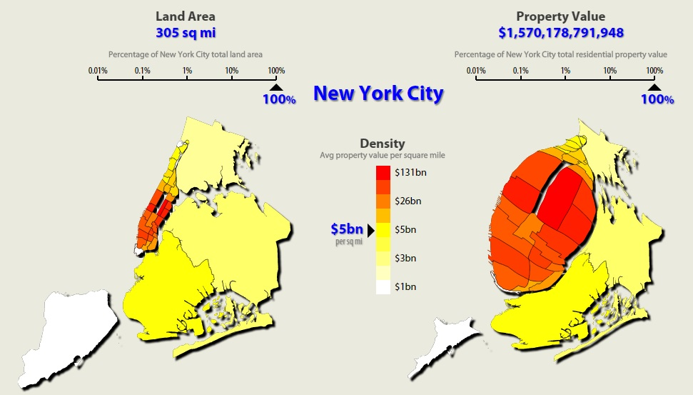 NYC Makes up 5% of the Nation's Property Value | 6sqft on