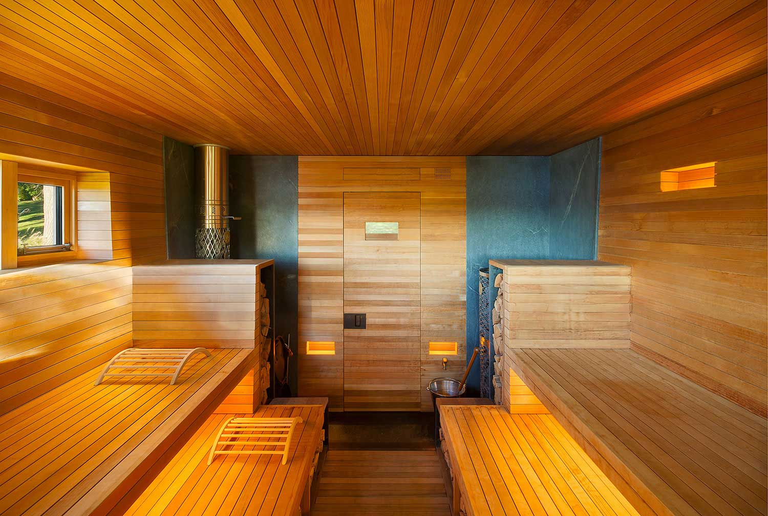 Wooden sauna welcomes guests to sweat out the stress of Wood valley designs