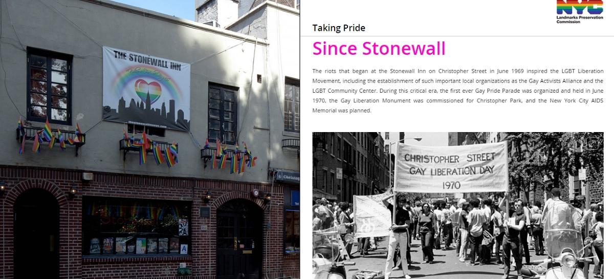 Taking Pride map, NYC LGBT history, NYC Pride, Stonewall Inn