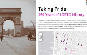 Taking Pride map, NYC LGBT history, NYC Pride