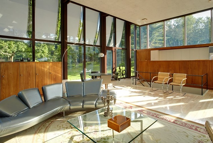 Wiley House, Frank Gallipoli, Philip Johnson, New Canaan, mid-century modern architecture, 218 Sleepy Hollow Road,