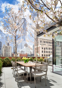 203 East 13th Street, 7 Harrison Street, penthouse, rooftop garden, cool listings, manhattan real estate, tribeca, east village, high and low, rooftop cabin