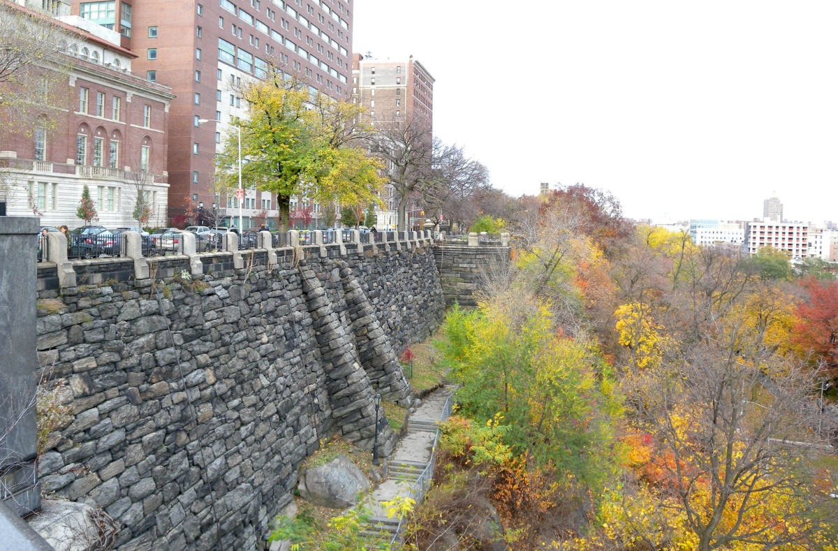 Morningside Park retaining wall