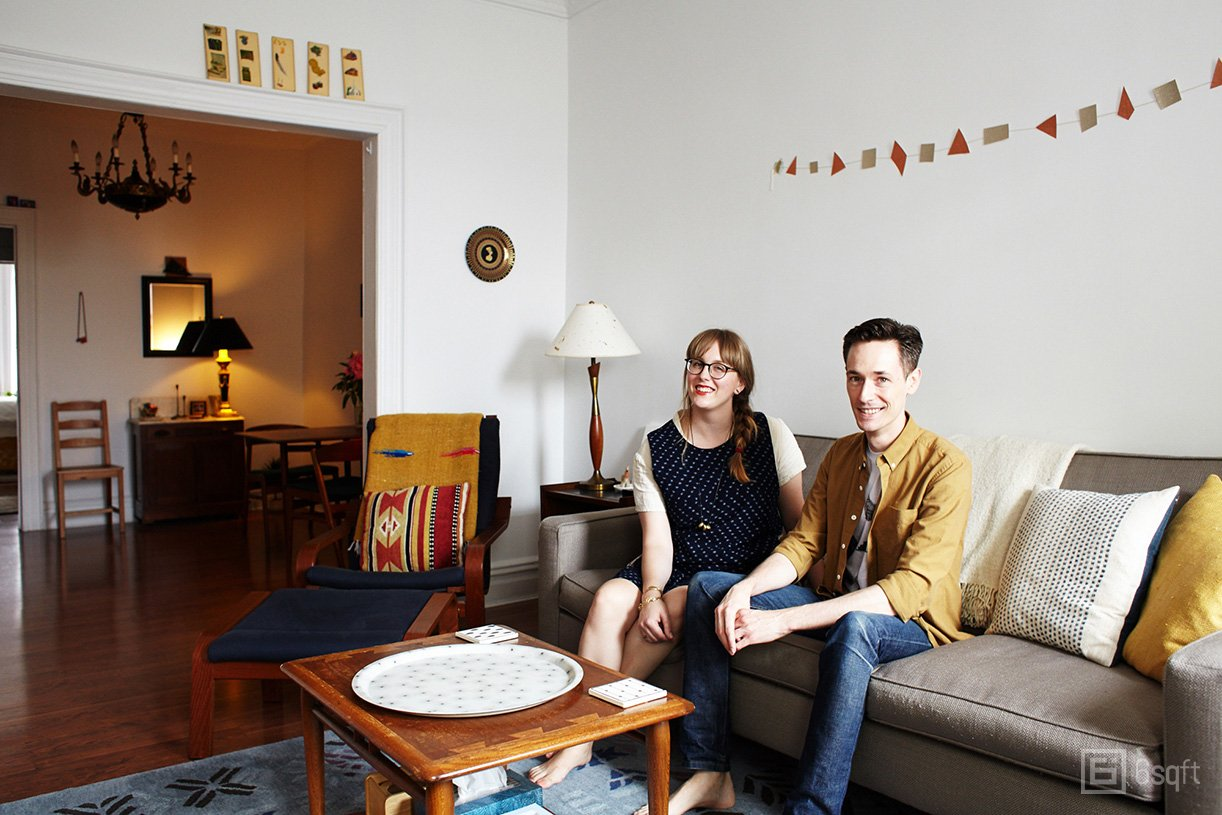 My 800sqft: Cute Design Couple Fill Their Ridgewood ...
