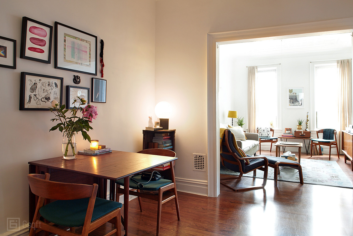 My 800sqft: Cute Design Couple Fill Their Ridgewood Railroad ...