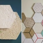 Dear Human, hexagonal tiles, recycled paper, Wallpapering, insulation tiles, custom made design, wall tiles, decorative wall design