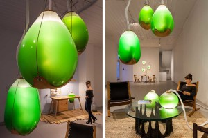 Jacob Douenias & Ethan Frier, Living Things, Photosynthetic furniture, the Mattress Factory Museum of Contemporary Art in Pittsburgh, spirulina furniture, spirulina lamps