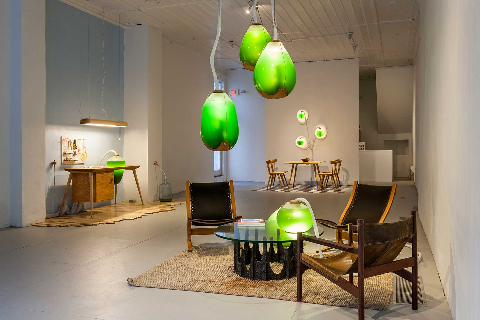 Transfixing Spirulina Furniture Produces Free Heat Light and Food