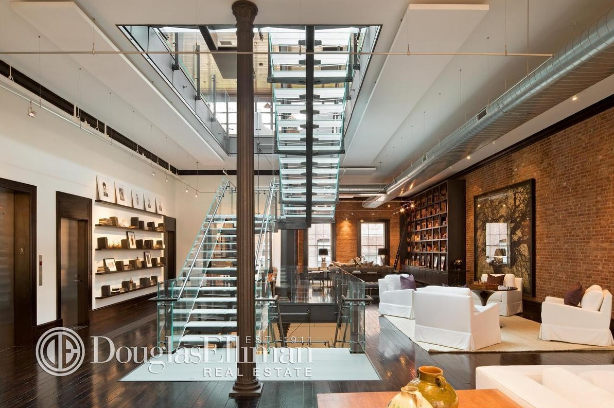 Former tribeca mansion now holds spectacular triplex penthouse asking 85000 a month