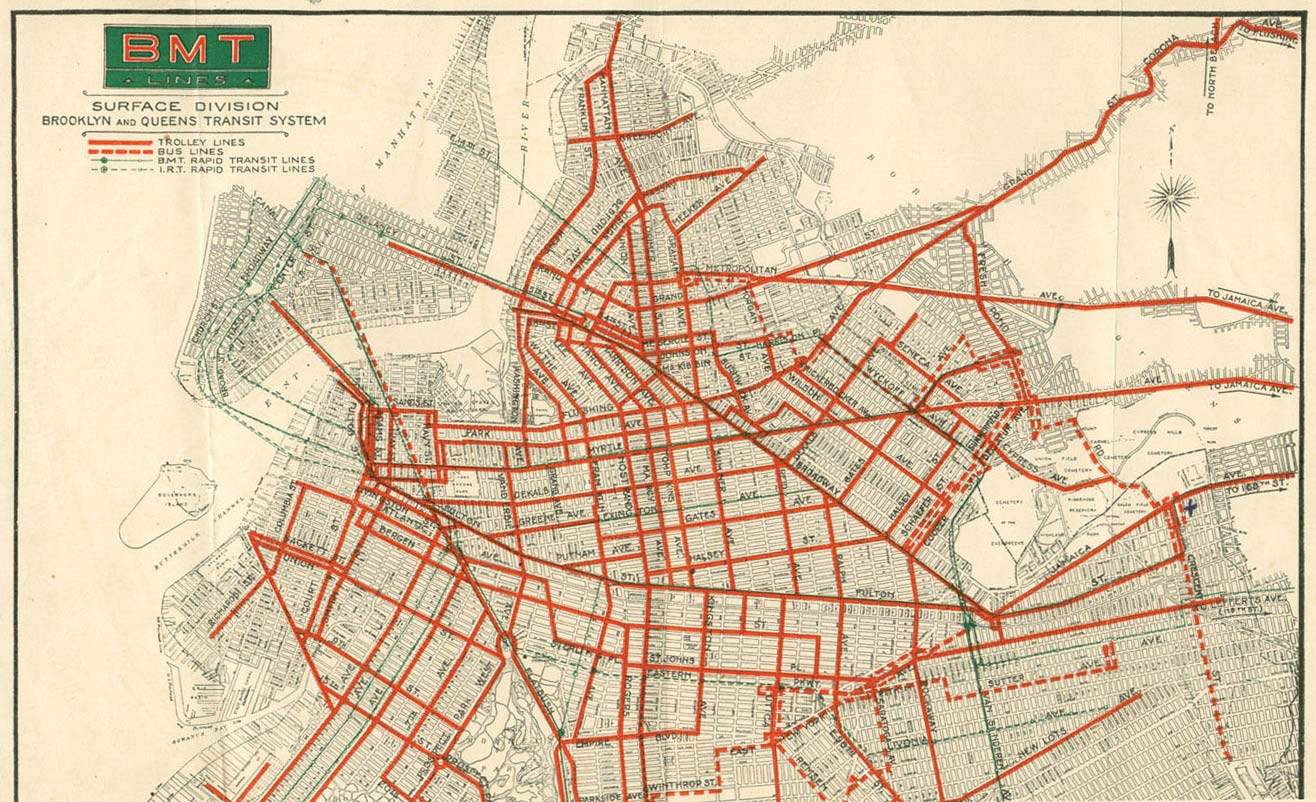 Trolley Map from the 1930s Shows How Easy It Was to Get Around