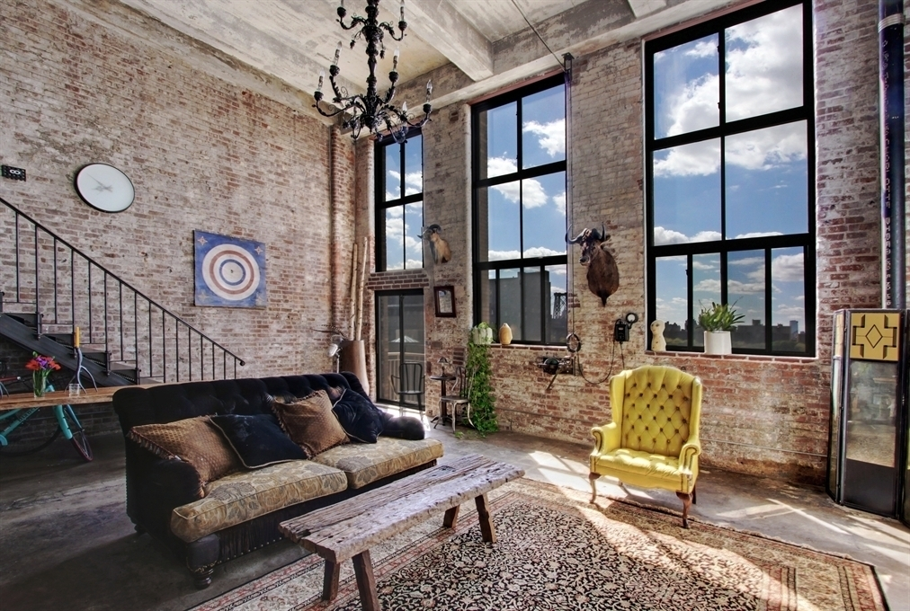 The ultimate williamsburg loft is on the market for 7 500 for Loft apartments in nyc
