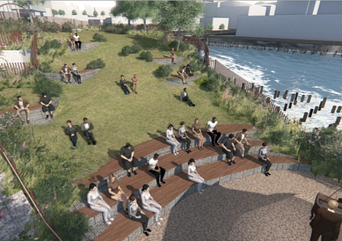 Mathews Neilsen, Pier 55 floating park, Barry Diller, Heatherwick Studio, Pier 55 renderings